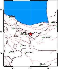 به گزارش مرکز زمین لرزه شناسی کشوری ساعاتی پیش زلزله ای به 2.7 ریشتر منطقه دماوند و تهران را لزاند